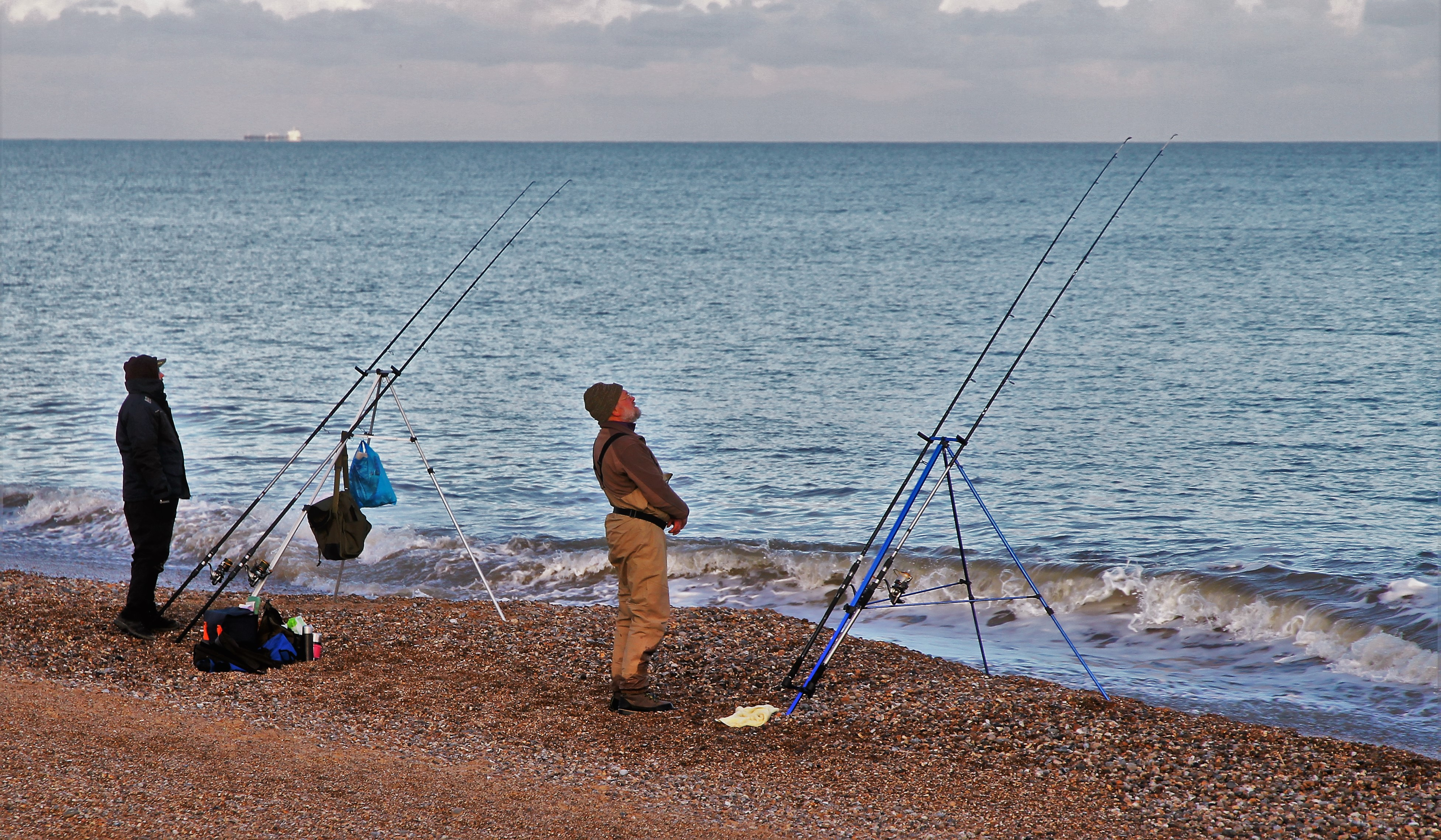 fishing-on-dunwich-beach-by-paul-waite