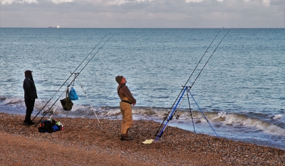 fishing-on-dunwich-beach-by-paul-waite
